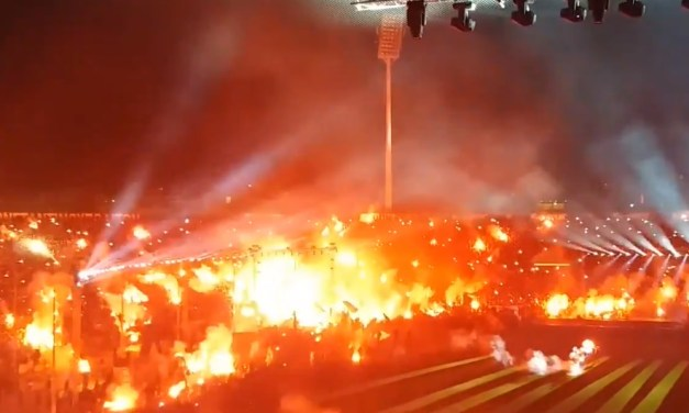 Greek Soccer Fans Celebrate First League Title in 34 years With Fire