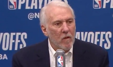 Gregg Popovich Explains Why the Spurs Didn't Foul at End of Game