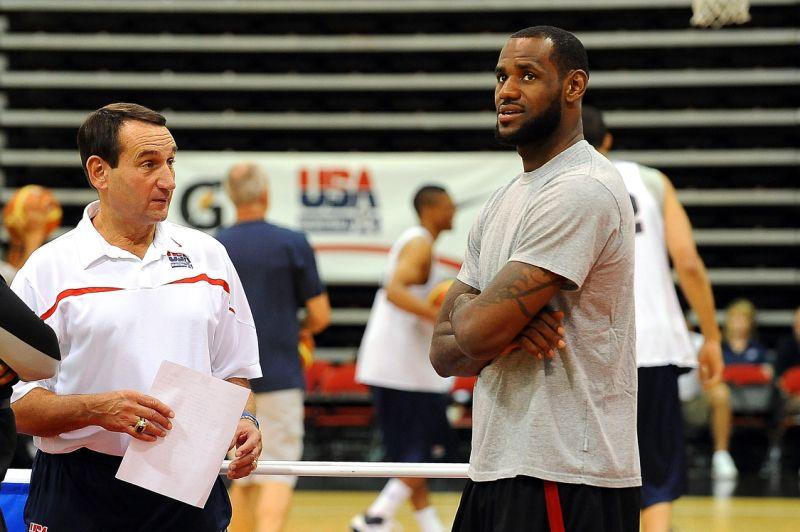 Coach K is Already Scouting LeBron James Jr.
