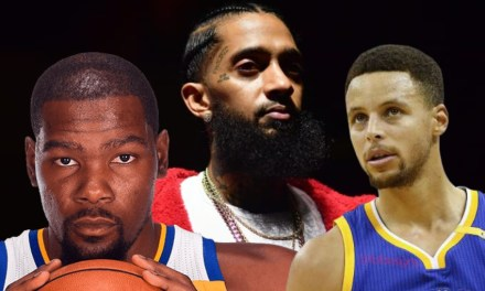 Watch Kevin Durant Break the Nipsey Hussle News to Steph Curry During Warmups