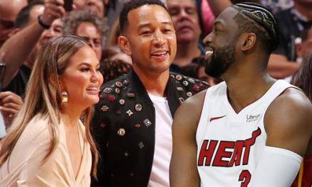 Chrissy Teigen Was Gifted Painting Of Epic Dwyane Wade Photo