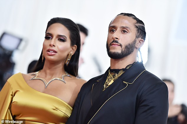 Colin Kaepernick Shows Off His Rings at Met Gala with Girlfriend
