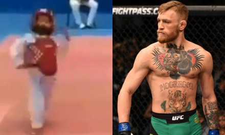 Watch This Youngster Copying Conor McGregor's Infamous Strut