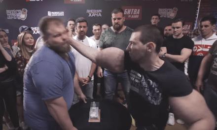 Russian Slap Champ 'The Dumpling' Took on Bicep Guy 'Bazooka Arms'