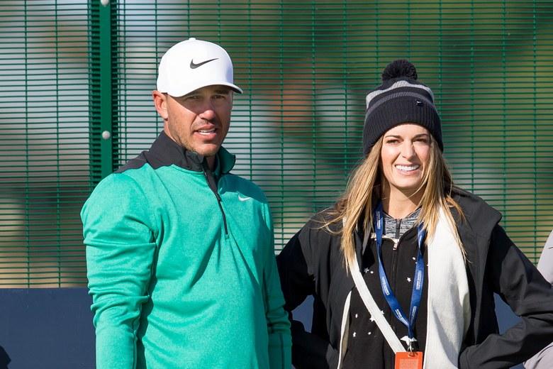 Brooks Koepka Denies Girlfriend Jena Sims a Kiss Twice at PGA Championship