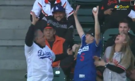 Dodgers Fan Lost His Food Twice Going After Foul Balls