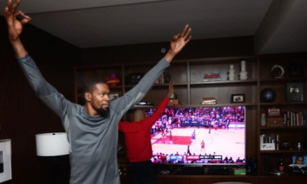 Kevin Durant Celebrated the Warriors Game 6 Win Over the Rockets