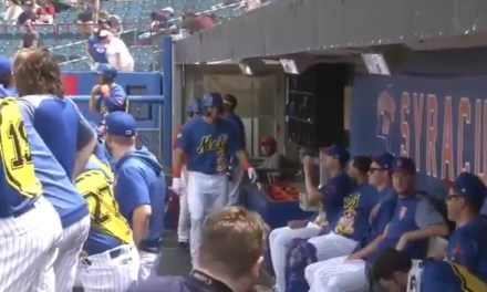 Tim Tebow Gets the Silent Treatment from His Teammates after His First Career Triple-A Home Run
