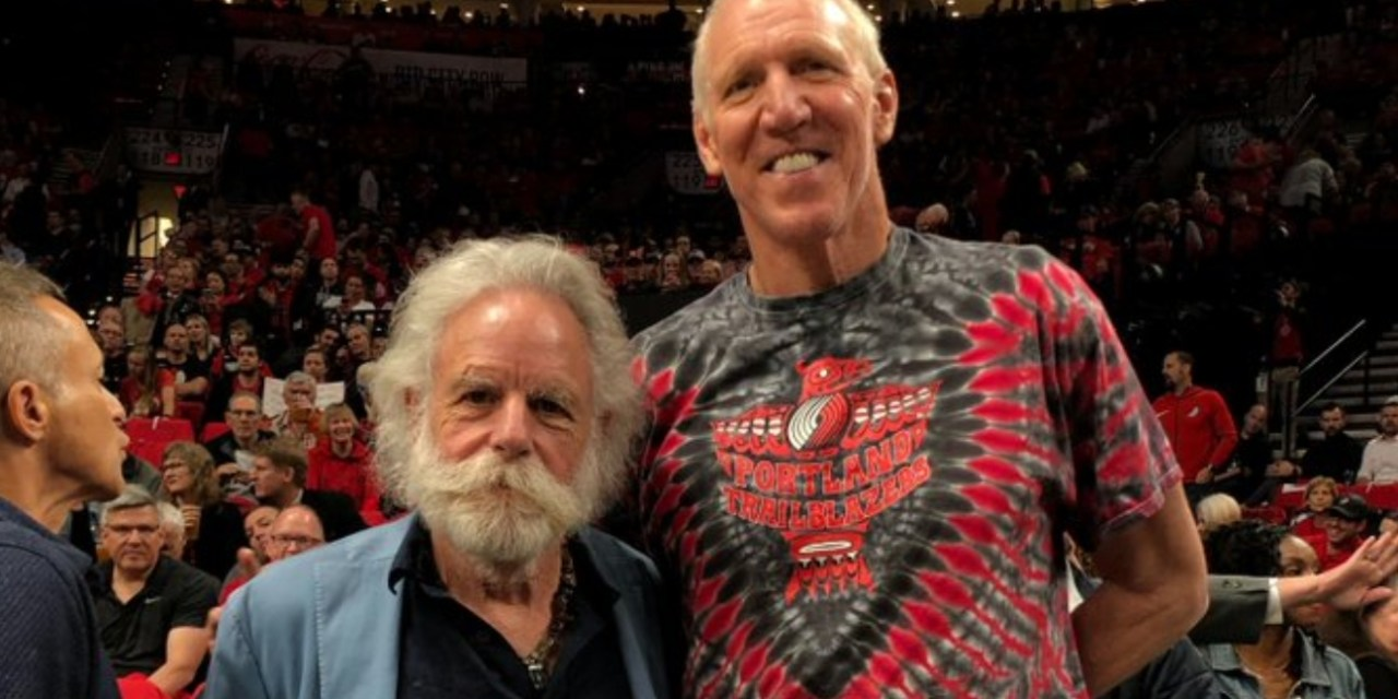 Bill Walton Attended Game 4 of the Warriors and Blazers Series with a Member of the Grateful Dead