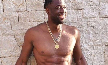 Dwyane Wade Gets Called Out on IG for Lack of Manhood in His Tiny Swim Trunks