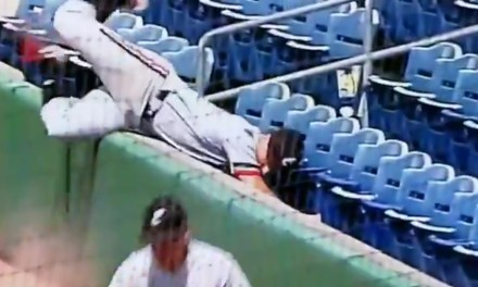 Urban Meyer's Son Ends Up in the Seats After Making a Catch in Foul Territory to Win the AAC Title