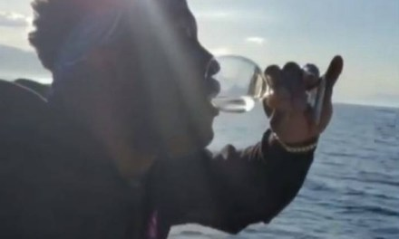 Watch Dwyane Wade Double Fist Wine on Greek Vacation
