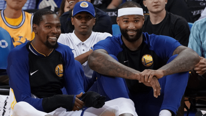 Warriors are Hopeful DeMarcus Cousins and Kevin Durant Can Play at Some Point during The Finals