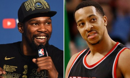 Kevin Durant Eating His Words After Comments to CJ McCollum Last July
