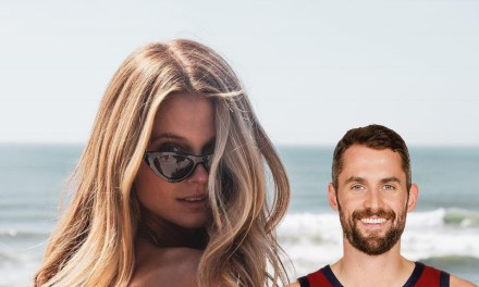 Kevin Love's Girlfriend Kate Bock Front and Center to See Him Being Honored