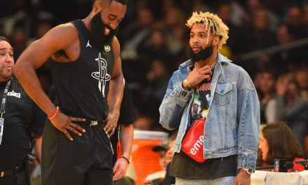 James Harden Spotted with Odell Beckham's Ex in Las Vegas
