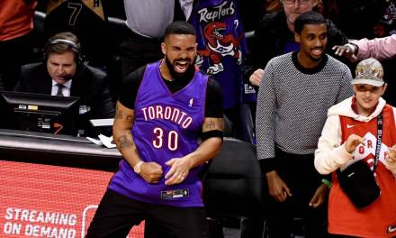 Of Course Drake is at the Raptors Championship Parade