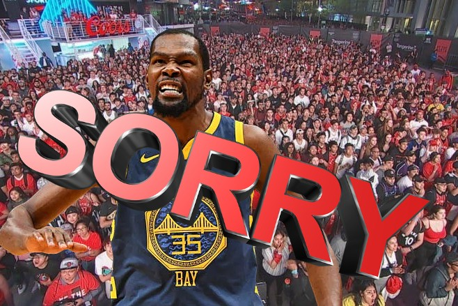 Raptors Fans Continue to Say Sorry to Kevin Durant In their Own Way