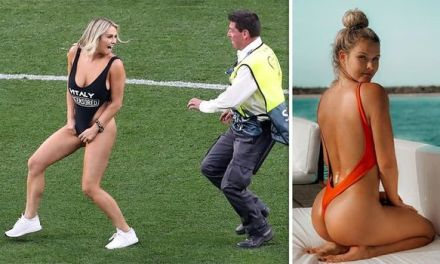 Champions League Match Streaker Claims Her Instagram Has Been Hacked
