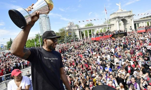 Kyle Lowry Started A Kawhi Leonard Chant At Championship Parade
