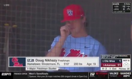 College Pitcher Caught on Camera Eating His Boogers