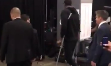 Kevin Durant Left Scotiabank Arena on Crutches after Possibly Tearing His Achillies