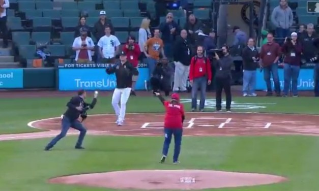 White Sox Photographer Catches a Terrible First Pitch Attempt