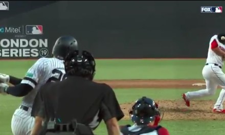 Red Sox Pitcher Came Extremely Close to Taking a Line Drive to the Face