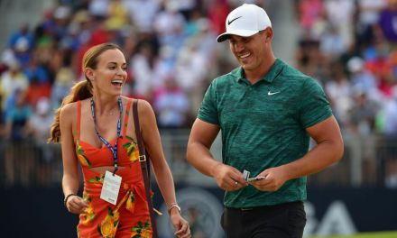 Brooks Koepka Kissed his Girlfriend Prior to Teeing Off This Time Around