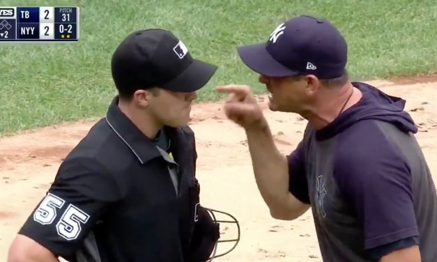 """Aaron Boone Tells Home Plate Umpire the Yankees are """"F*cking Savages in the Box"""" After Being Ejected"""