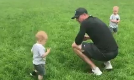 Matt Ryan Teaches His 1-Year-Old Twins to Run Routes