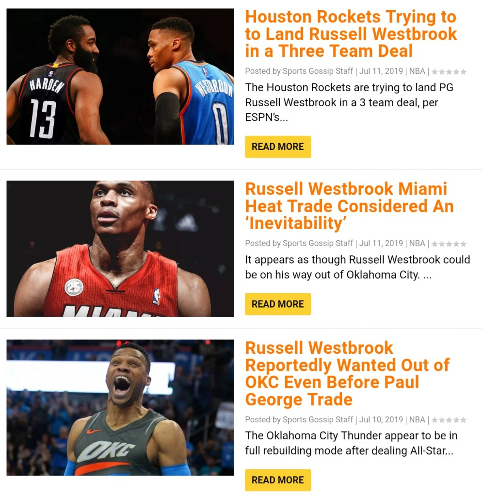 James Harden Records 2019: Russell Westbrook Has Been Traded To The Rockets For Chris