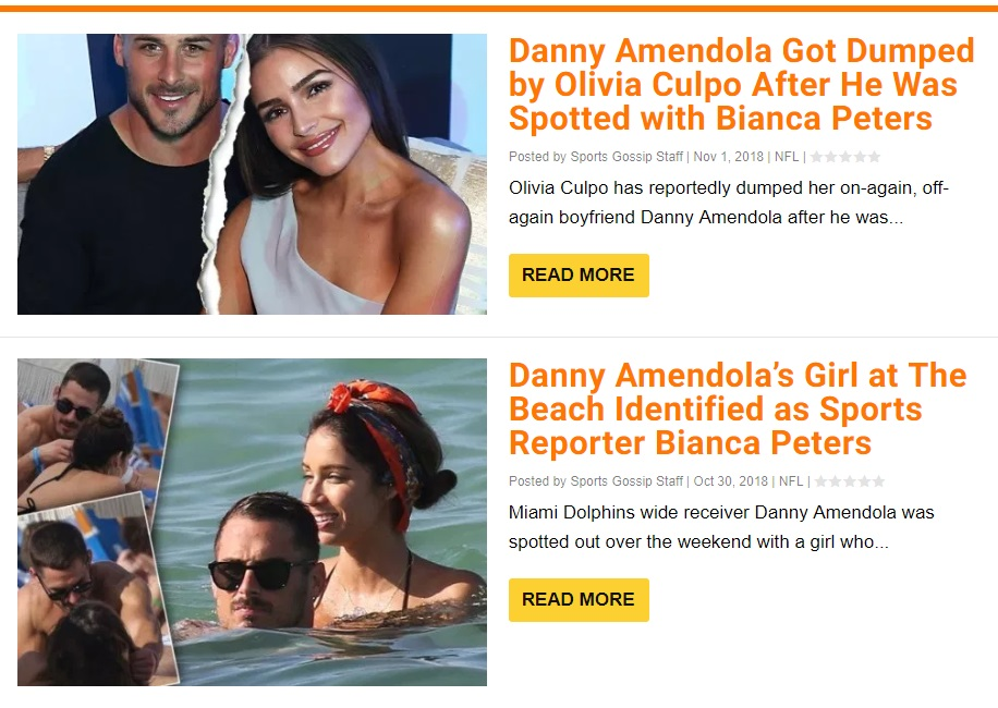 Danny Amendola Has His Eye on a New Lady After Christian