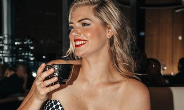 Kate Upton Steps Out and Spills Out for Drinks at Mandarin Oriental in New York