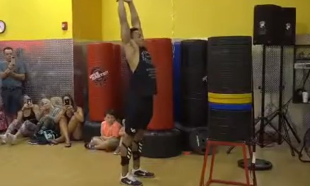 Former College Football Player Sets World Box Jump Record