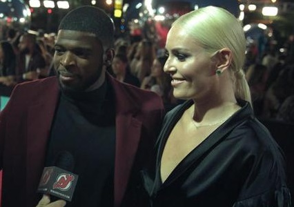 Lindsey Vonn Makes Appearance With Fiance P.K. Subban at VMA's