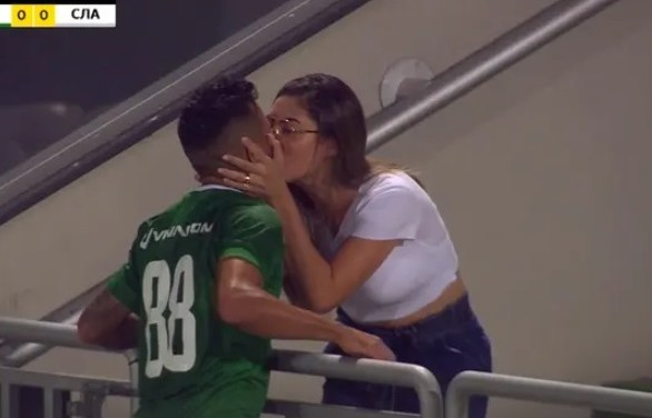 Bulgarian League Soccer Player Kisses Girlfriend After Goal But There Was Only One Problem..