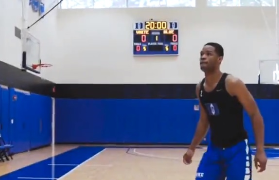 Duke Frosh Stanley Breaks Zion's Vertical Record