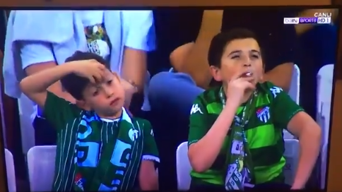 Kid Goes Viral for Smoking a Cigarette in the Stands at a Soccer Game