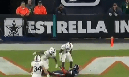 Miami Fans Threw Things Onto the Field After Safety Amari Carter Was Ejected for Targeting