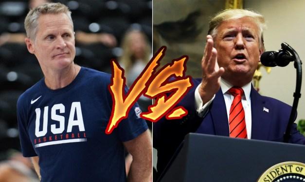 Steve Kerr Finally Responds To Trump's Trolling