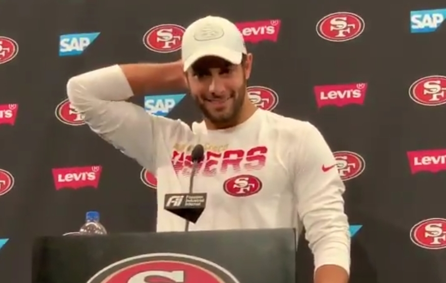 Jimmy Garoppolo Addressed the Viral Postgame Interview With Erin Andrews