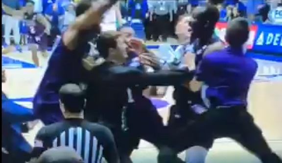 Stephen F. Austin's Team Manager Took a Punch to the Face During Celebration After Beating Duke