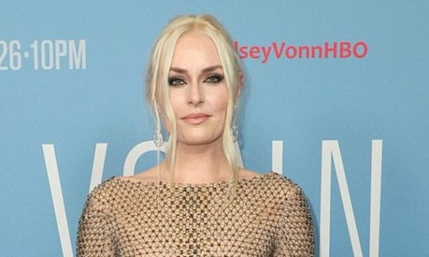 Lindsey Vonn Dons Nude Sheer Gown at Her Movie Premiere