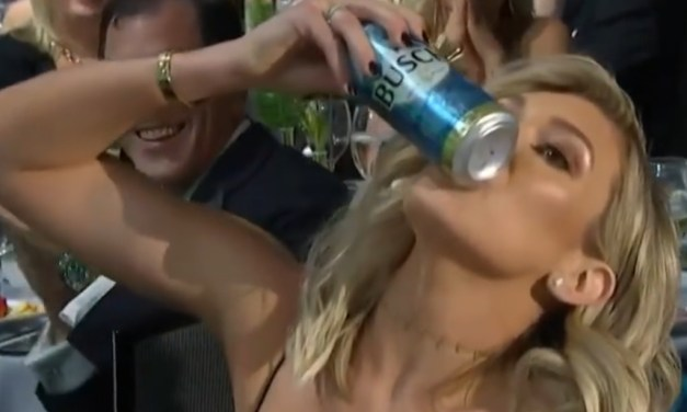 Kyle Larson's Wife Shotgunned a Beer at the NASCAR Awards