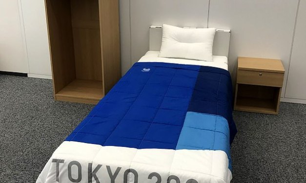 Tokyo Olympics Athletes Are Assured their Cardboard Beds Won't Collapse During Sex