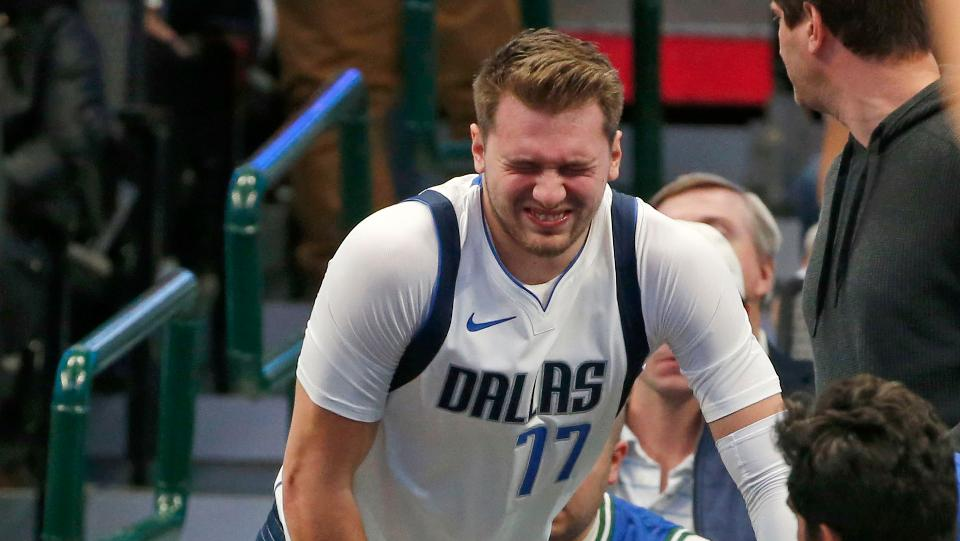 Luka Doncic Rolled His Ankle During Practice
