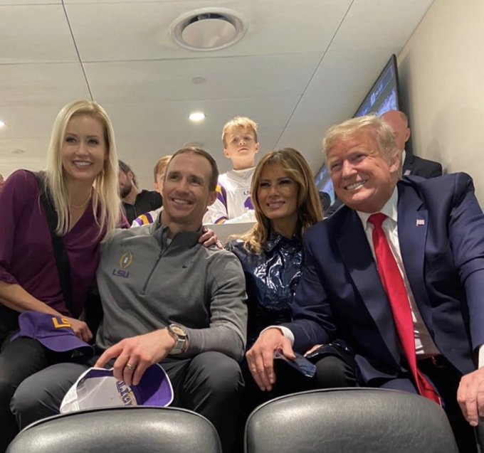 Image result for Donald Trump Drew Brees