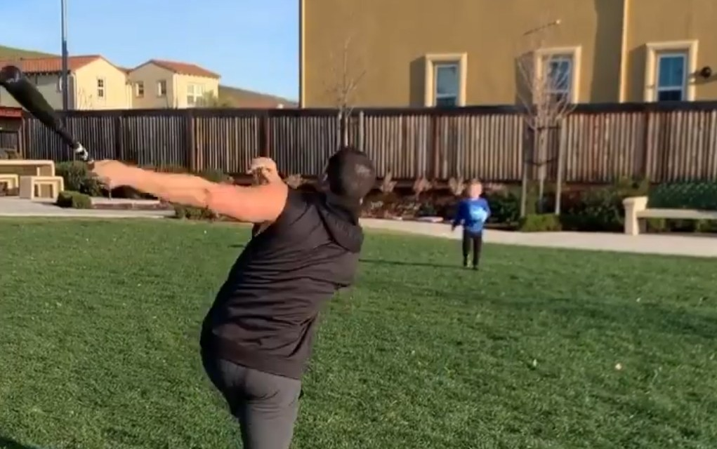 Derek Carr Hit a Bomb Off His 3-Year-Old and Wasn't at All Apologetic About It