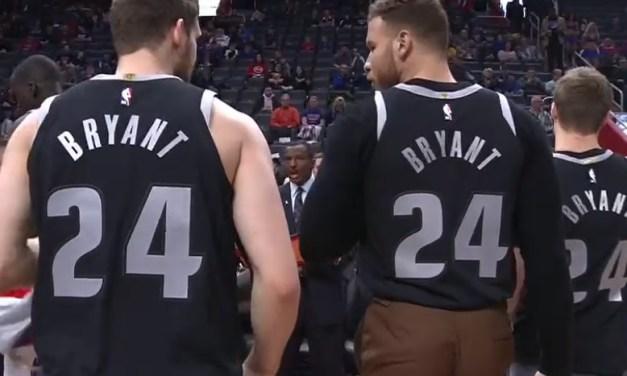 Pistons Were Introduced Wearing Jerseys to Honor Kobe
